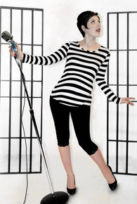 Pirate Punk Striped Long Sleeve Maternity Tee - More Colors
