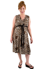 BG Purrty Leopard Print Hospital Delivery Gown