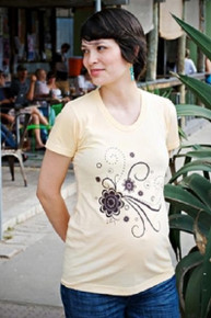 Chocolate Botanicals Maternity Tee