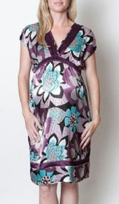 Mia Crushed Violets Maternity Dress