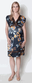 Mia Navy Floral Maternity Dress