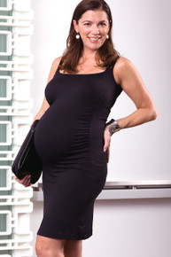 Caprice Ruched Sexy Maternity Tank Dress