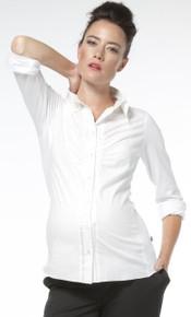 Odessa Button Front Blouse - White