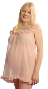 Peach Silk Maternity Babydoll