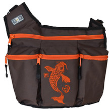 Brown Koi Fish Diaper Bag