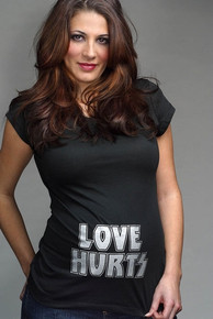 Love Hurts Cap Sleeve Maternity Tee
