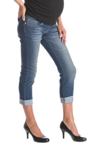 Tummy Trimmer Boyfriend Maternity Jeans