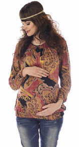 Stephanie Bohemian Print Maternity Top
