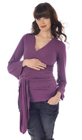 Bella Long Sleeve Maternity Wrap Top
