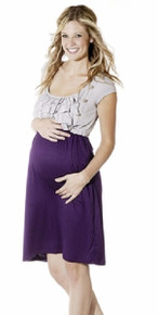 Regina Ruffled Maternity Dress