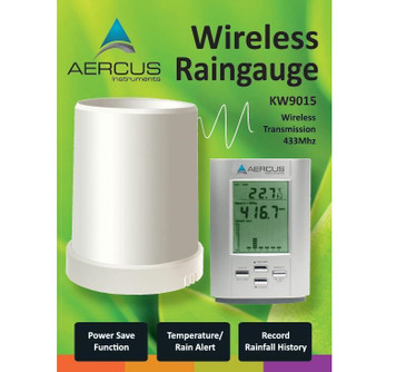 Aercus Instruments™ Rain Gauge with In/Out Temperature