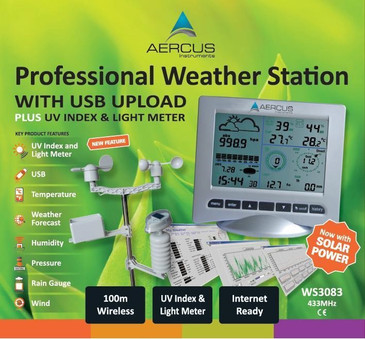 Aercus Instruments™ WS3083 Pro Wireless Weather Station