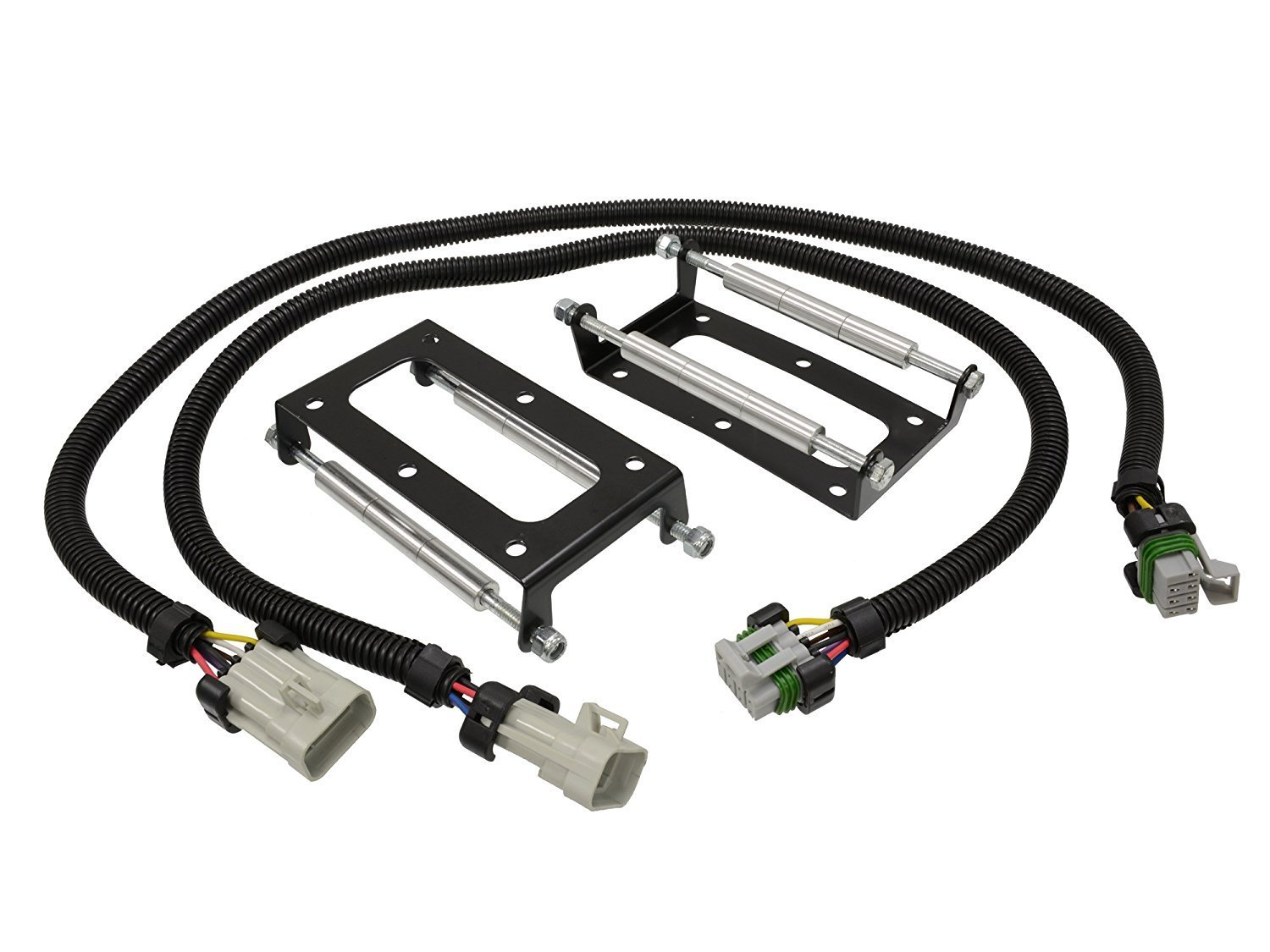 "Coil Pack Relocation Kit Bracket Mount - Fits LS2 LS3 LS4 LS7 LS9 LSX Powdercoated Black with 36"" Harnesses"