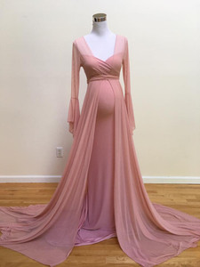 Francesca Maternity Robe, Dusty Pink