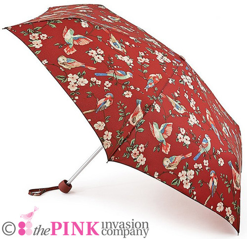 CATH KIDSTON BRITISH BIRDS BERRY MINILITE HANDBAG FOLDING UMBRELLA