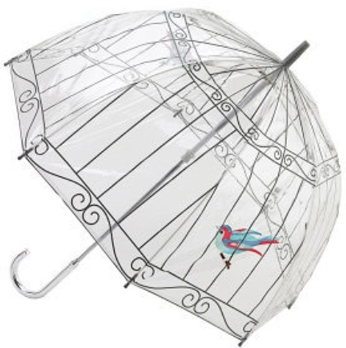 LULU GUINNESS BIRDCAGE BIRDCAGE DESIGNER WALKING UMBRELLA