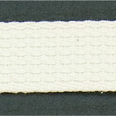"1"" Cotton webbing WHITE - 60207-00001"