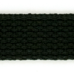 "1"" Cotton webbing BLACK - 60207-00002"