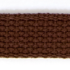 "1"" Cotton webbing BROWN - 60207-00006"