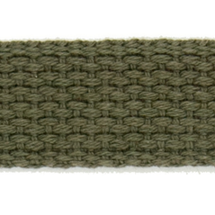 "1"" Cotton webbing OLIVE - 60207-00007"