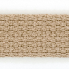 "1"" Cotton webbing BEIGE - 60207-00016"