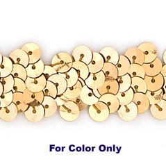 6MM cup sequins strings GOLD - 09072-00003
