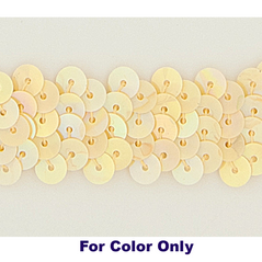 6MM cup sequins strings BANANA - 09072-00014