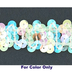 6MM cup sequins strings CLEAR IRIS WHITE - 09072-00018