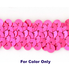 6MM cup sequins strings FLORO CERISE - 09072-00021