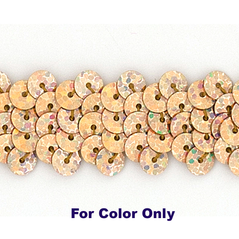 6MM cup sequins strings SPOT GOLD - 09072-00032