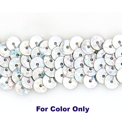 6MM cup sequins strings SPOT SILVER - 09072-00033