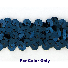 6MM cup sequins strings NAVY - 09072-00039