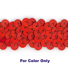 6MM cup sequins strings SPOT RED - 09072-00043