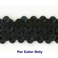 6MM Flat Sequin slung BLACK - 09000-00001