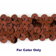 6MM Flat Sequin slung BRONZE - 09000-00017