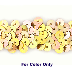 6MM Flat Sequin slung JEWEL GOLD - 09000-00034