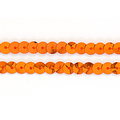 6MM Flat Sequin slung ORANGE - 09000-00053