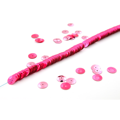 10MM cup sequin strings FLORO CERISE - 09074-00021