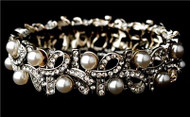 Swarovski Crystal Pearl Crystal Fashion Wedding Bridal Prom Bracelet  WB967p