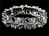 Stunning Swarovski Crystal Fashion Swirl Wedding Bridal Prom Bracelet WB967