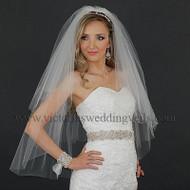 3 Layers Bridal Veil Cut Edge Oval N38