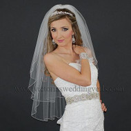 3 Layers Bridal Veil Pencil Edge N39-4