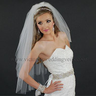 3 Layer Bridal Veil Cut Edge N37
