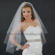 2 Layer Bridal Oval Veil Cut Edge N22