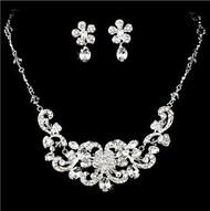 Beautiful Crystal Bridal Wedding Prom Jewelry Set HS8