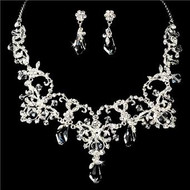 Absolutely Beautiful Bridal Wedding Prom Couture Jewelry Set  HS4