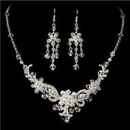 Gorgeous Couture Swarovski Crystal Bridal Wedding Prom Earrings Necklace & Bracelet Set HS10