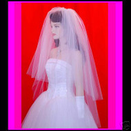 "Wedding Bridal Veil 3 Tiers  28""x33""x40""  31"