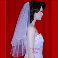 "BRIDAL VEIL 2 TIERS 22""x26"" WEDDING 19-4"