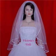 """BRIDAL VEIL 2 TIER WEDDING 30""""x35""""  12-2"""
